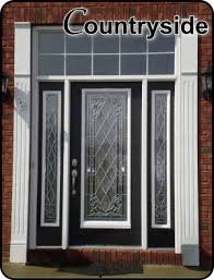 Exterior Glass Door Inserts And Classic Front Entry Glass Doors