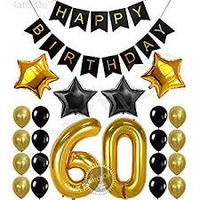 60th birthday party decorations 60th birthday party decorations kit happy birthday