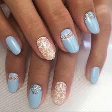 blue and white nails blue moon nails cool nails elegant nails