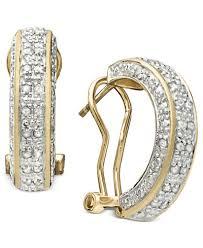 18k gold earrings townsend cut diamond hoop earrings in 18k gold