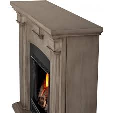 Indoor Gel Fireplace by Real Flame Adelaide 51 Inch Gel Fireplace With Mantel Dry Brush