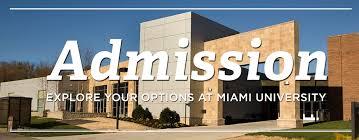 application checklist admission regionals miami university