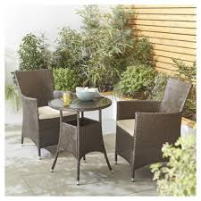 Tesco Bistro Chairs Buy Tesco Corsica Rattan Garden Bistro Set Brown From Our Rattan
