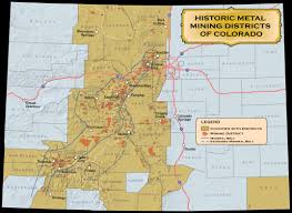 Map Of Colorado River by Historic Mining Districts Colorado Geological Survey