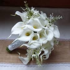 white calla white calla wedding bouquet real touch mini white calla