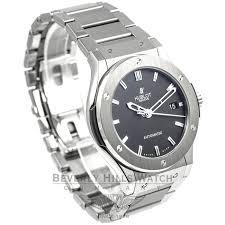 titanium bracelet watches images Hublot classic fusion zirconium case titanium bracelet black dial jpg