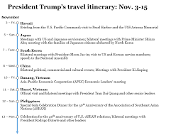 travel itinerary images Travel itinerary for president trump 39 s asia trip PNG
