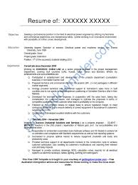 Resume Samples Electrical Engineering by Beautiful Australia Electrical Engineering Resume Gallery Best