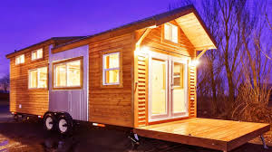 country tiny home with metal frame fold down deck u0026 industrial