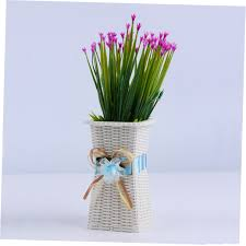 reusable plastic flower vase home decoration delicate designed