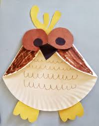 fun activities for kids paper plate owl craft mommysavers