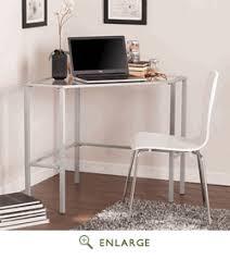 southern enterprises corner desk metal glass corner desk in silver southern enterprises ho6549