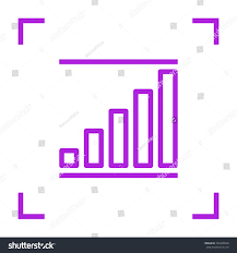 schedule minimalistic vector icon chart line stock vector