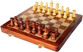 craftsman beautiful wooden folding magnetic chess set 7 inch board