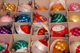 the polished pebble collecting vintage christmas ornaments