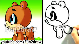 how to draw a cartoon bear how to draw easy things fun2draw