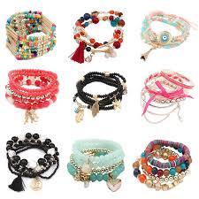 multi bracelet images Colorful beaded bracelets multi layered strand bracelet for women jpg