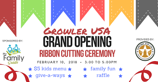 grand opening ribbon grand opening and ribbon cutting growler usa my family guide