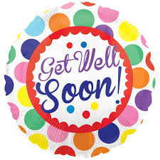 get well soon and balloons 18 get well soon dots foil balloon