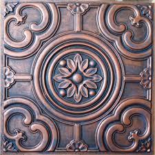 pl50 faux tin aged copper 3d ceiling tiles interior restaurant pub