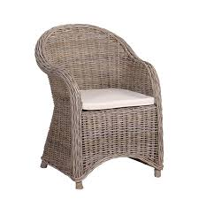 shabby chic rattan patio garden chair u0026 cushion mulberry moon