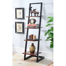 ikea ladder bookshelf ideas contemporary wall decorating with