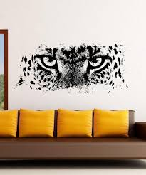 animal leopard eyes decal living room vinyl carving wall decal