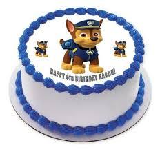 paw patrol 1 edible birthday cake cupcake topper u2013 edible