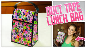 diy duct tape lunch bag do it gurl youtube