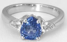 stone rings design images Pear sapphire and white sapphire ring three stone ring design br 111 jpg