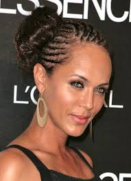 twisted bun hairstyle on african american twist bun hairstyles with cornrow braided cute women hairstyles