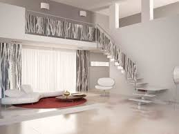 stair engaging home interior design ideas using white wood