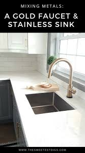 Gold Kitchen Faucet by Fixing My Design Mistake With A Gold Kitchen Faucet By Delta The