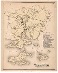 Map Of Maine Towns Map Of Cumberland Co Me 1857 Cd