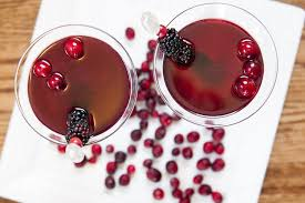 martini red blackberry bourbon martini red stamp