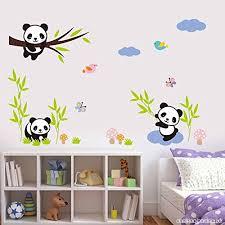 stickers panda chambre bébé muraux panda décoration salon chambre amovible