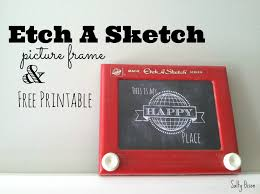 etch a sketch picture frame u0026 printable