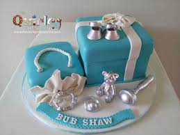 Tiffany Blue Baby Shower Cake - tiffany box baby shower cake the quirky cake society