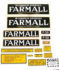 mylar decal set farmall parts international harvester farmall
