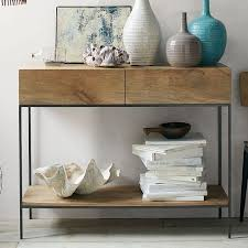 Entryway Console Table With Storage Industrial Storage Console West Elm