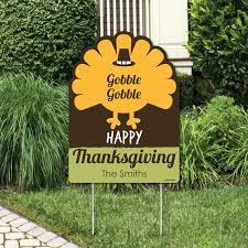 thanksgiving decorations personalized thanksgiving yard sign