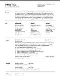 free resume template exles restaurant skills resume exles exles of resumes
