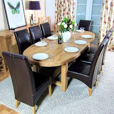 Solid Oak Dining Room Chairs Antique Oval Oak Dining Table And Chairs Oak Dining Table