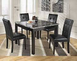 black dining room table set d154 225 maysville black square dining room