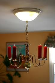 Real Candle Chandelier Chandelier Candle Retro Fit