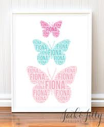 butterfly shape name print jilly designs
