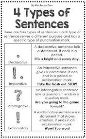 best 25 types of sentences ideas on pinterest 4 types of
