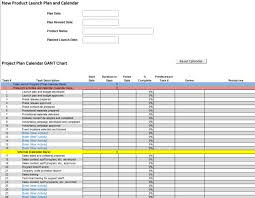 product launch project gantt chart and budget plan template