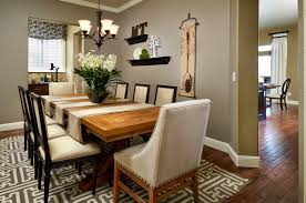 Rustic Table And Chairs Round Dining Table Centerpiece Dark Gray Fabric Seat Armless