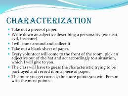 characterization slide
